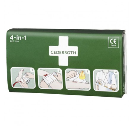 Cederroth 4-in-1 steriilne sidumispakend (3m x 10cm)