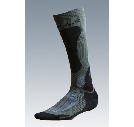 BATAC Mission Knee Socks - Grey/Olive Green